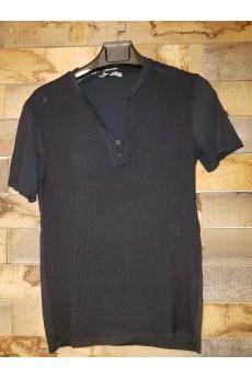 Young & Rich Leinen Hemd Black